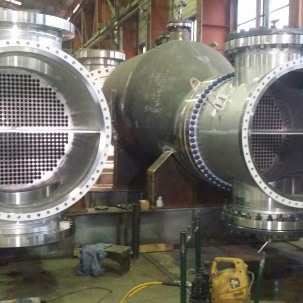 Costruzione scambiatori di calore presso lo stabilimento Brembana & Rolle S.p.A di Bergamo