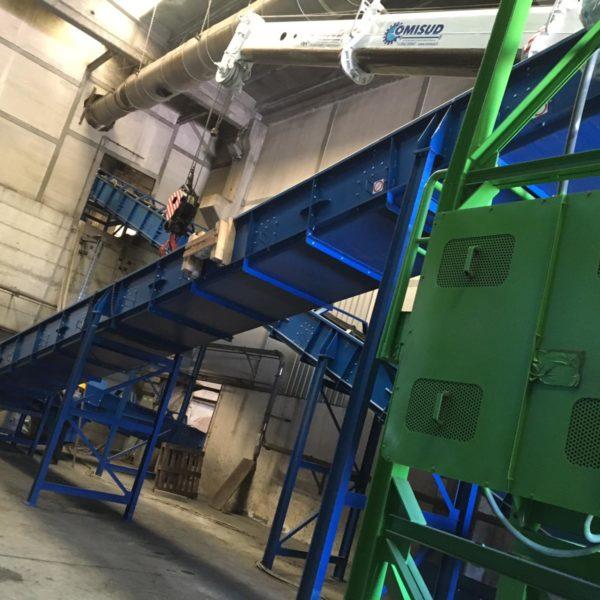 Montaggio nastri trasportatori presso l'impianto termovalorizzatore MIDA TECNOLOGIE AMBIENTALI SRL DI CROTONE
