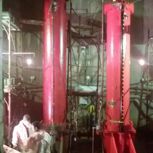 Revisione delle paratoie della diga Casoli - Centrale Idrolelettrica Sant'Angelo di Altino - ACEA